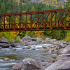 A Bridge in Tumwater Canyon during Fall