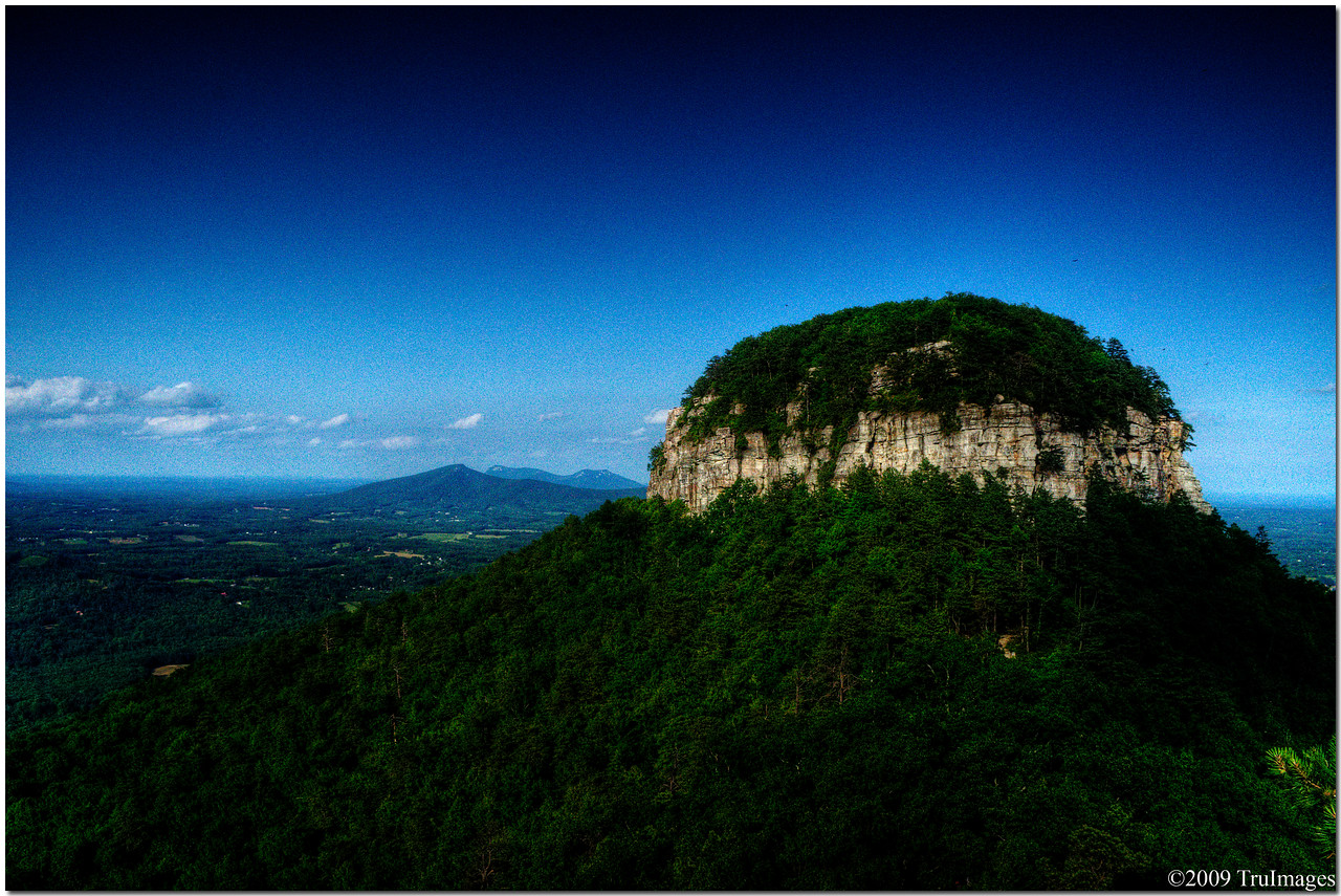 The distinctive Big Pinnacle of Pilot Mountain., NC<br /> Elevation 2400 ft