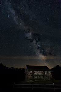 Old Building and Milky Way