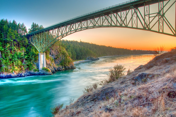 Deception Pass at sunset