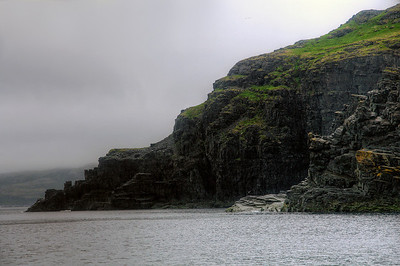 rocky cliff off the coast of St. Anthony, Newfoundland & Labrador, Canada