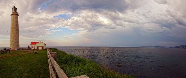 lighthouse @ Forillon, Quebec (panorama) Canada
