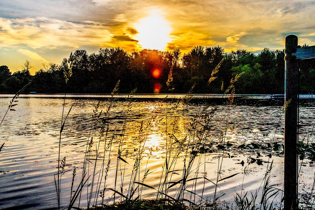 Sunset on Williamsville Lake