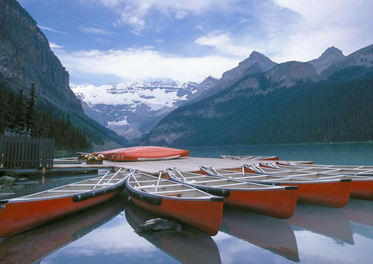 Boats at Lake Louise, Canada