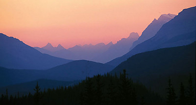 Rocky Mountain sunset, Alberta, Canada