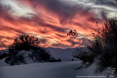 Fiery Sunset @ White Sands