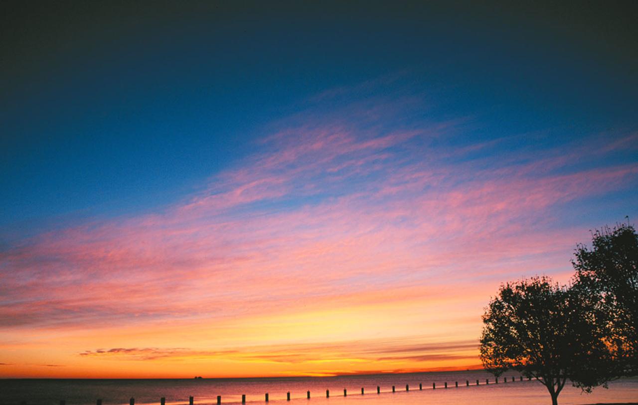 Lake Michigan sunrise, Chicago