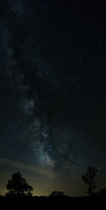 Brant Lake Milky Way Vertical Pano