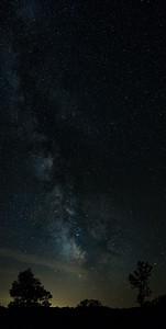 Brant Lake Milky Way Vertical Pano