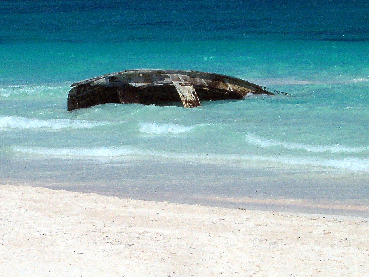Ship wreck near Tulum, Mexico