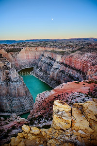 """Bighorn Canyon Moonrise."""