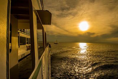 Ferry ride sunset