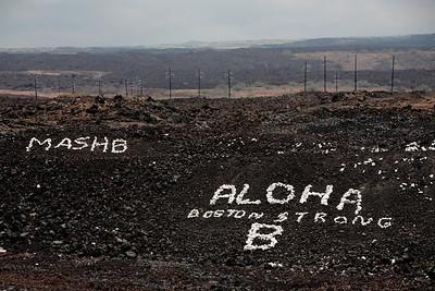 Graffiti, Hawaiian-style, along Queen Ka'ahumanu Highway, Kailua Kona, Big Island, HI.