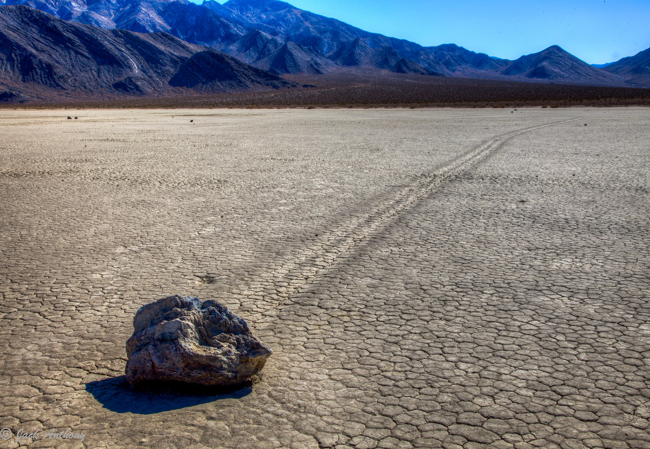 Moving Rock at Racetrack in Death Valley, CA