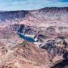 Aerial view Hoover Dam, Grand Canyon - South Rim
