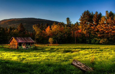 Irishtown Barn at Sunset