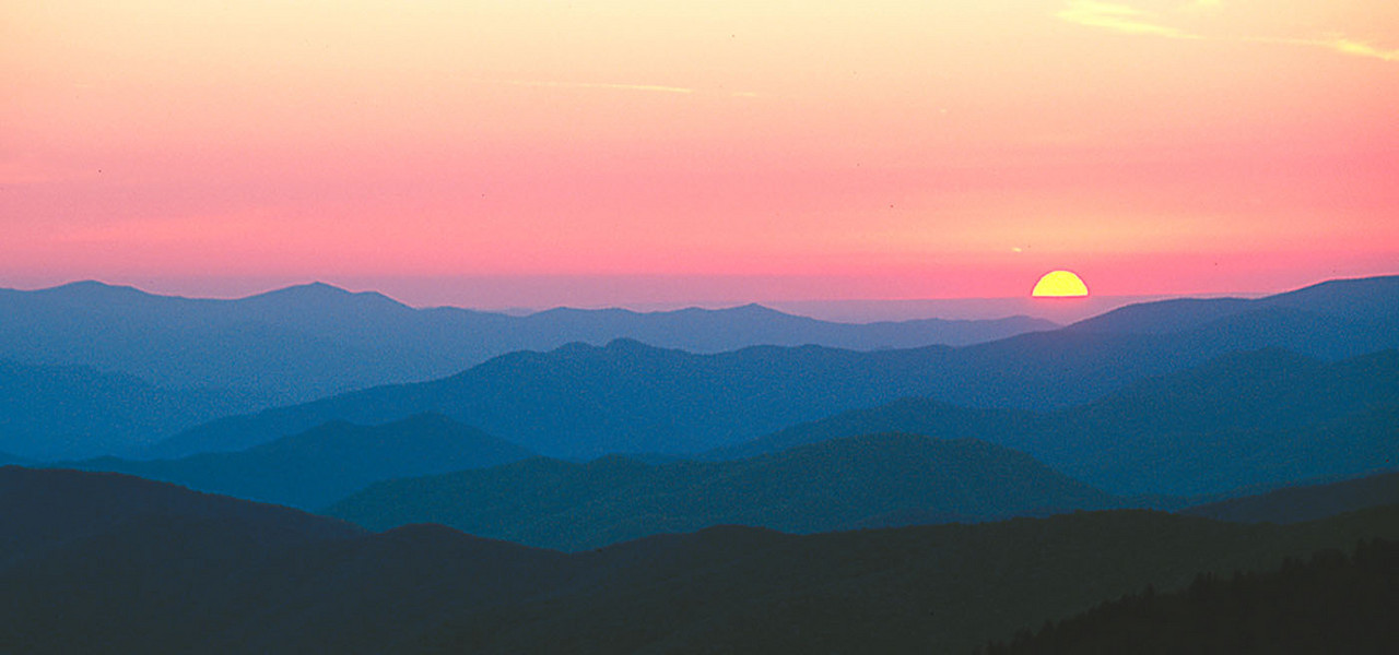 Smoky Mountains sunset, Tennessee