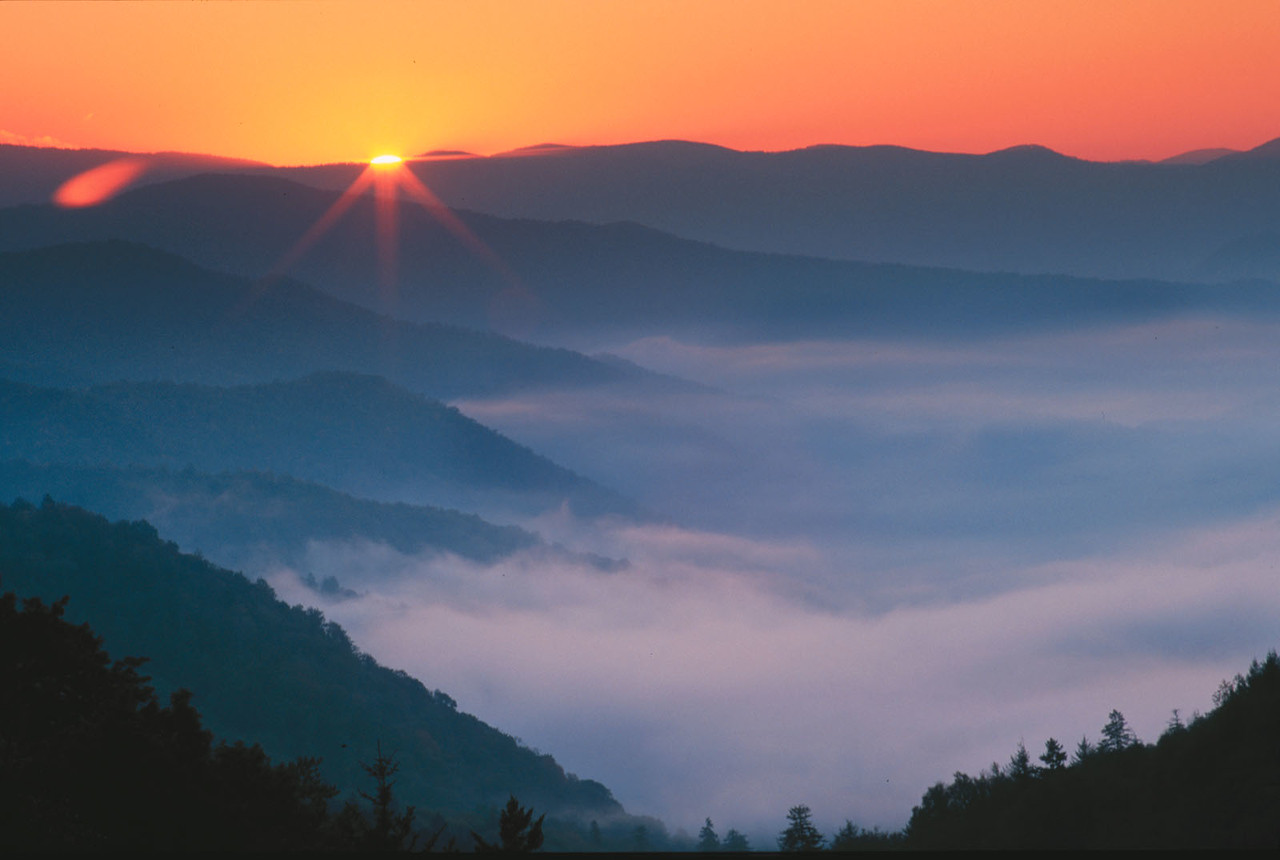Smoky Mountains sunrise, Tennessee