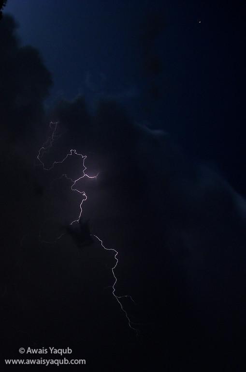 Lightning storm at Islamabad