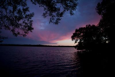 Sunset, Lake on the Mountain, ON