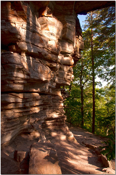 May 20<br /> Geological formations of the big pinnacle at Pilot Mountain