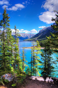 Lake Minnewanka Scenic Drive Banff National Park Alberta, Canada