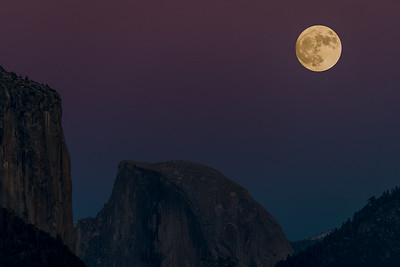 Full Moon over Half Dome