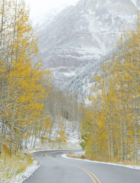 Early fall snow near Aspen, Colorado