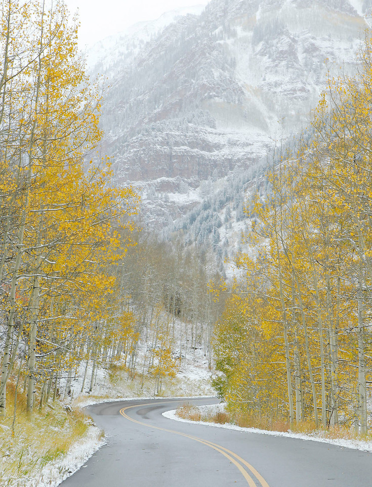 Early fall snow near Aspen, Colorado