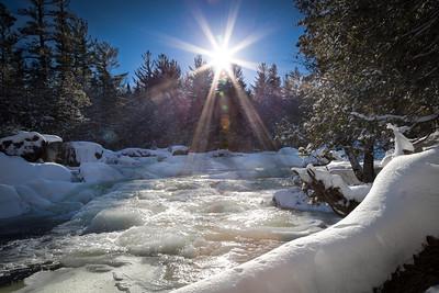 Blue Ridge Falls at Winter