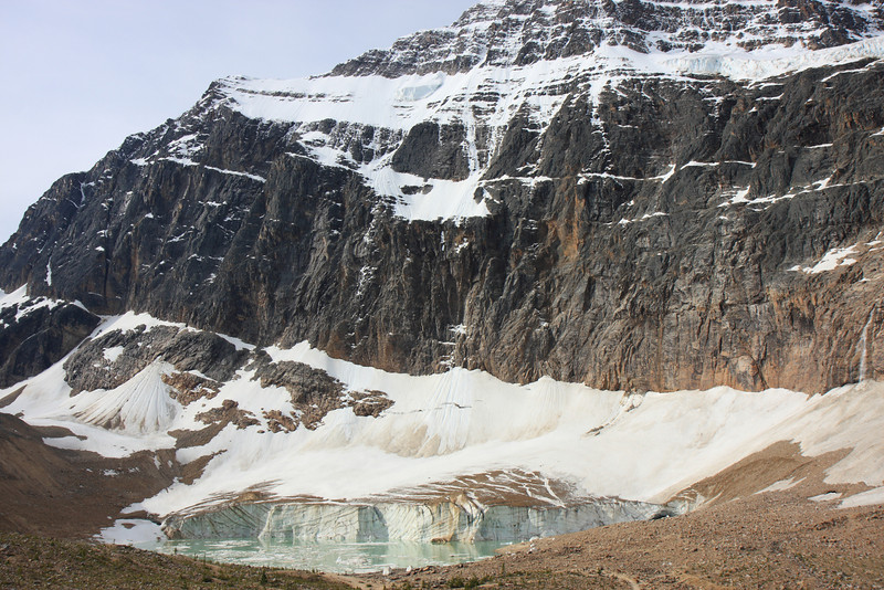 Mount Edith Cavell and Glaciers at Base.