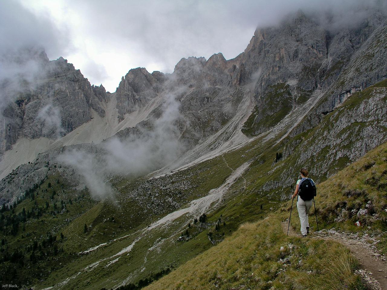 Into the Italian Dolomites.