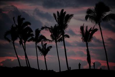 Waikoloa at sunset, Big Island, Hawaii.