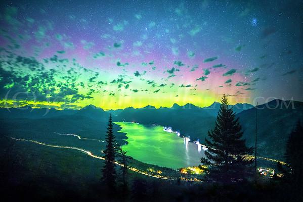 """Glacier Park Aurora"""