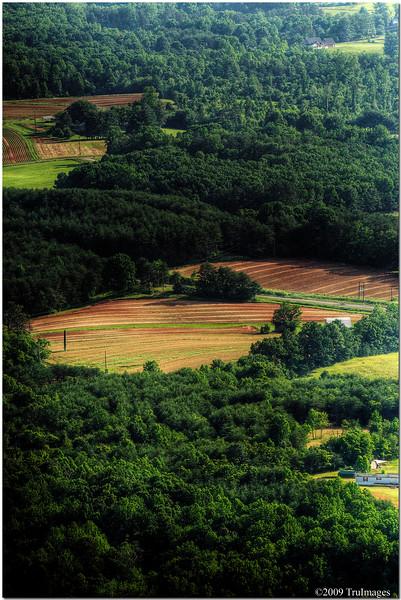 Valley below Pilot Mountain, NC
