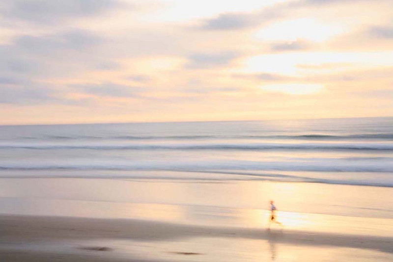Evening run, California