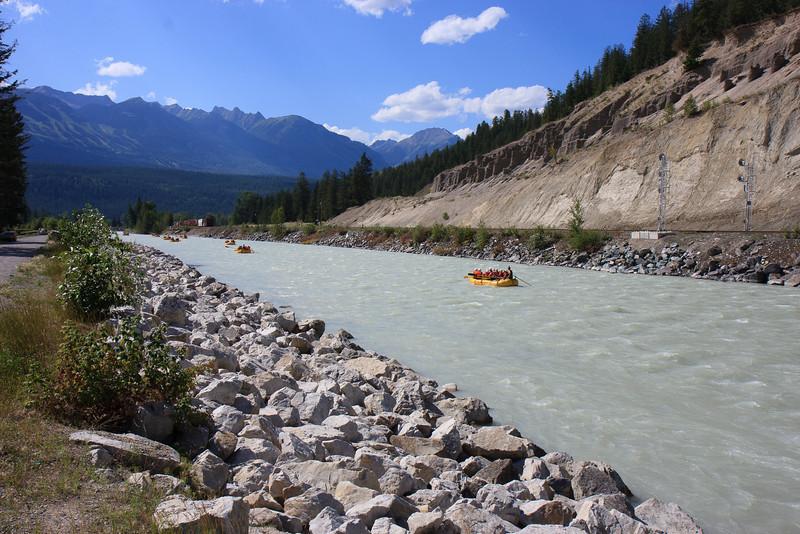 Kicking Horse River at Campsite