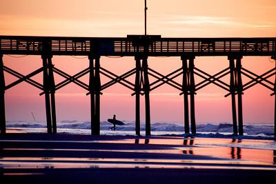 The sunrise surfer