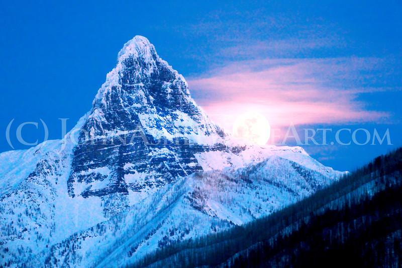 """Mount St. Nicholas Moonrise"""