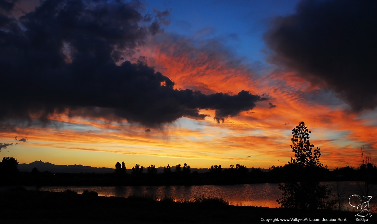Sunset at St. Vrain State Park, Colorado