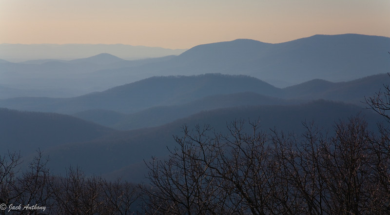 Rich Mountain Wilderness from Springer Mountain, GA.