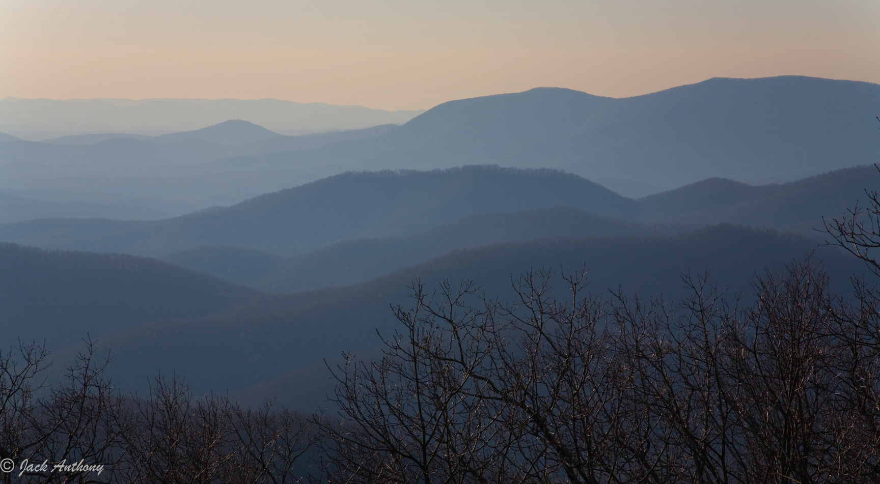 Rich Mountain Wildernes from Springer Mountain, GA.