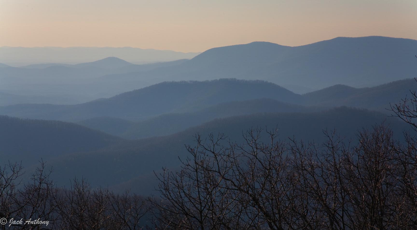 Rich Mountain Wildernes from Springer Mountain, GA.