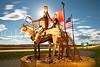 """Blackfeet Sentries"" sculpture by Blackfeet artist Jay Polite Laber"