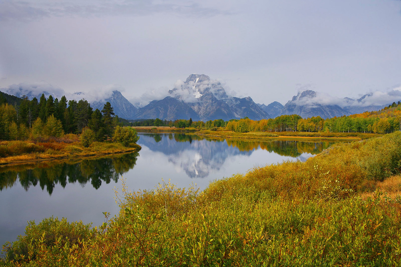 Fall at Oxbow Bend, Grand Teton NP, Wyoming