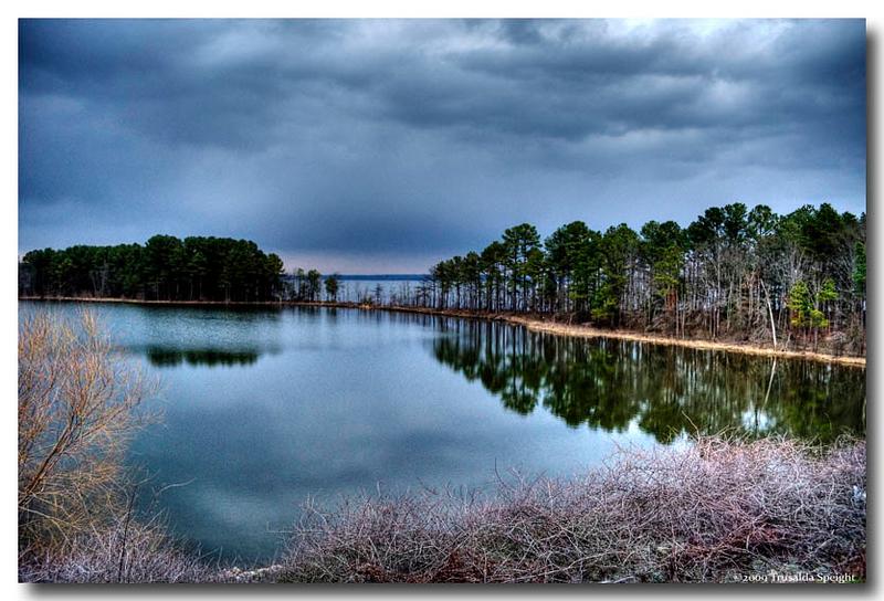 Jordan Lake at dusk
