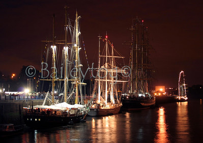 Tall Ships at Newcastle quayside