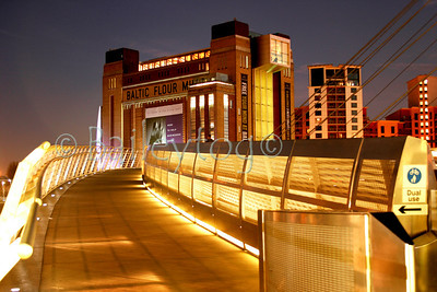 Millenium Bridge and Baltic Gallery at night