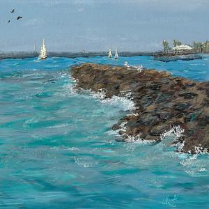 Corel Painter digital seascape