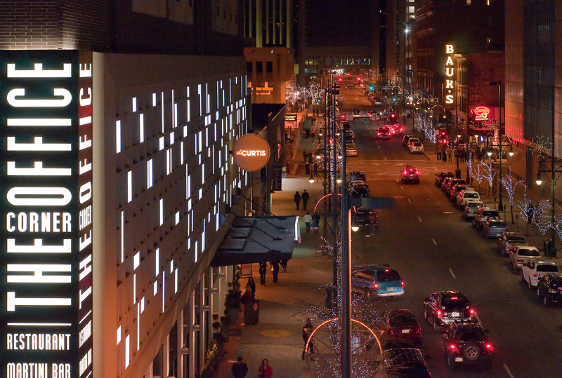 Curtis Street, viewed from the Denver Center for the Performing Arts - Denver, CO
